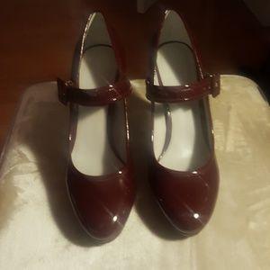 Calvin Klein Red Patent leather Platform Heels